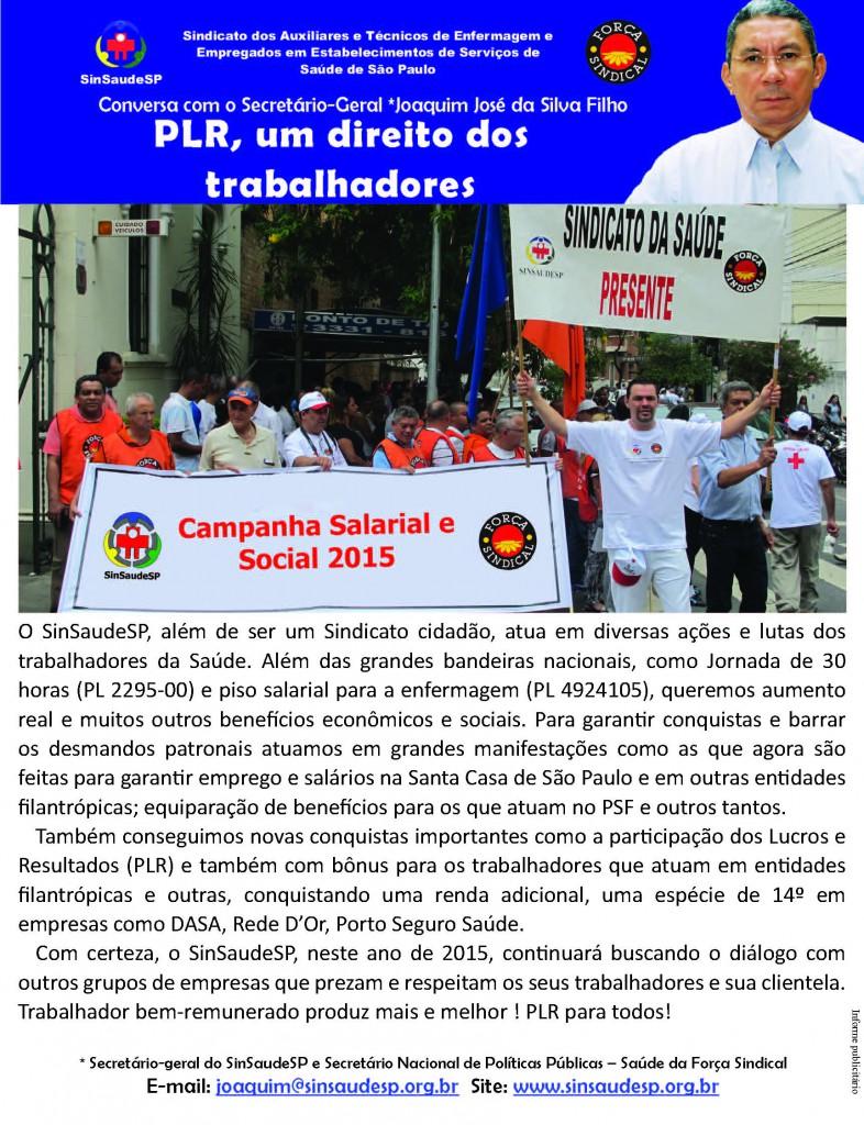 Recado 12.01 - PLR, um direito dos trabalhadores