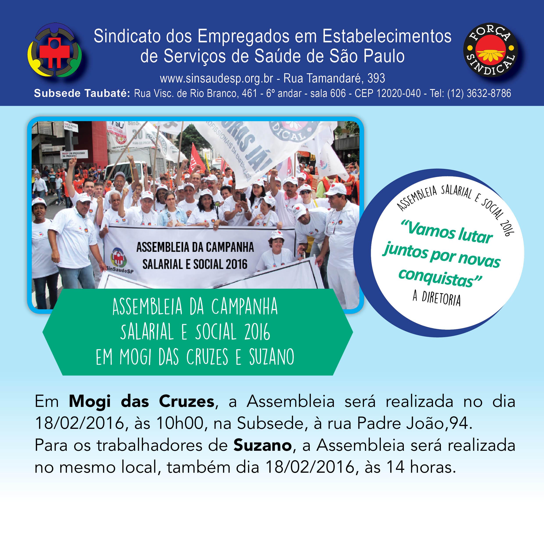 Post Campanha Salarial e Social 2016 em mogi