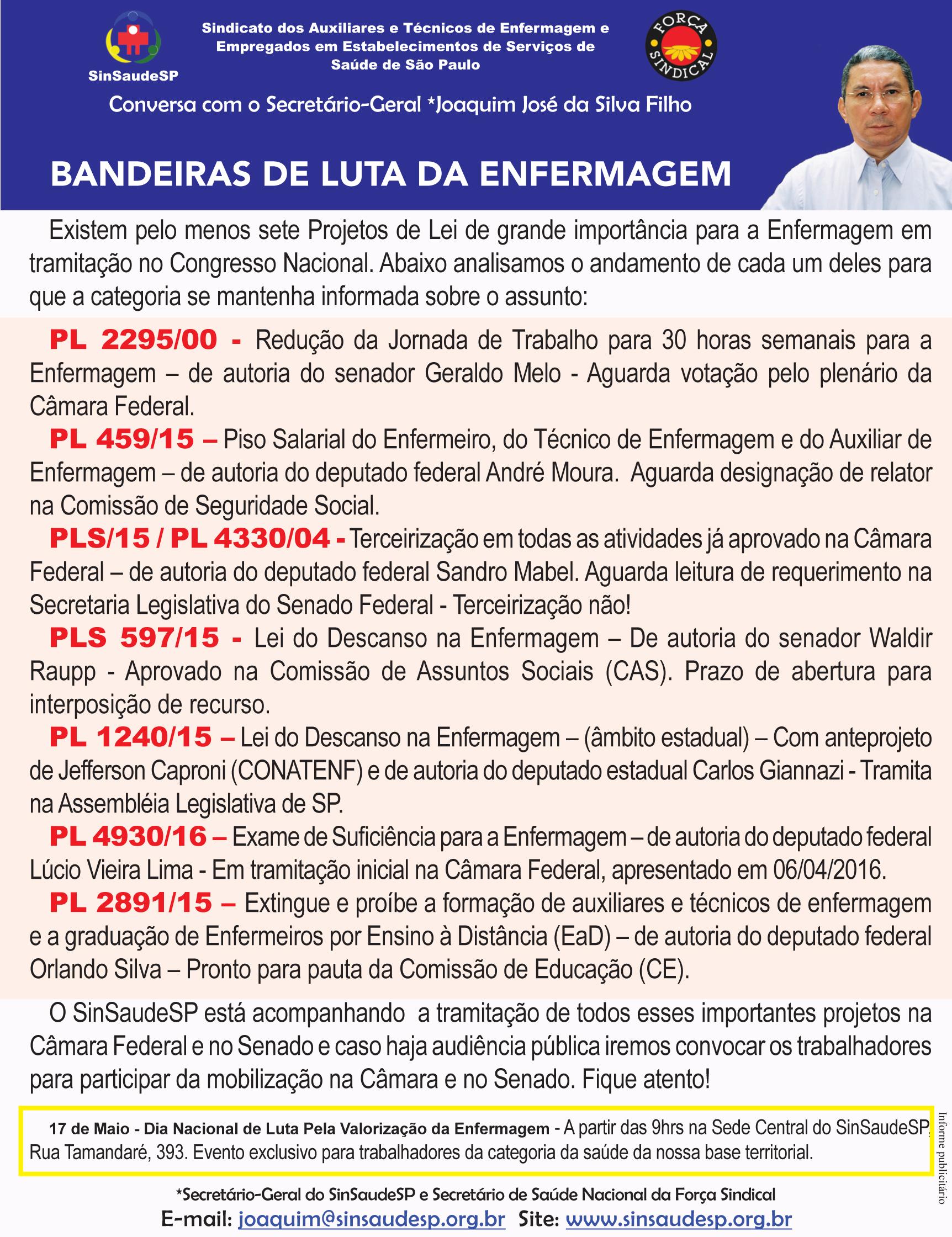 Recado 11.04 (ARTES) - BANDEIRAS DE LUTA DA ENFERMAGEM.indd