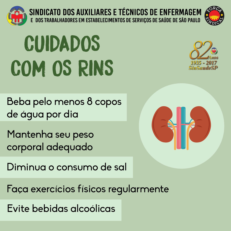 Cuidados com os rins