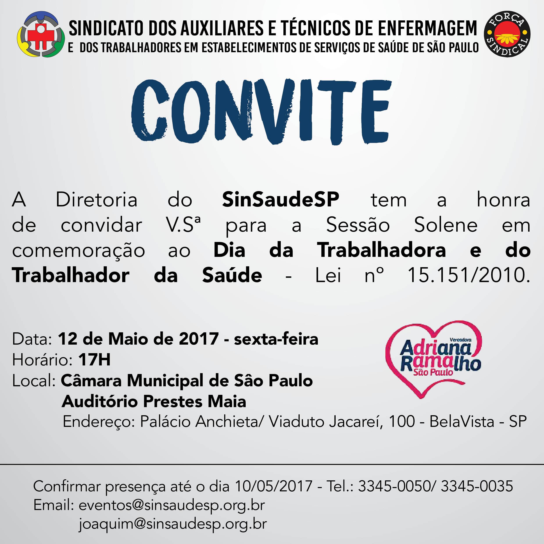 Convite 12 de Maio