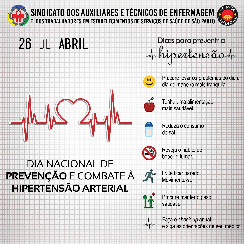 Dia Nacional de prevencao a hipertensao arterial