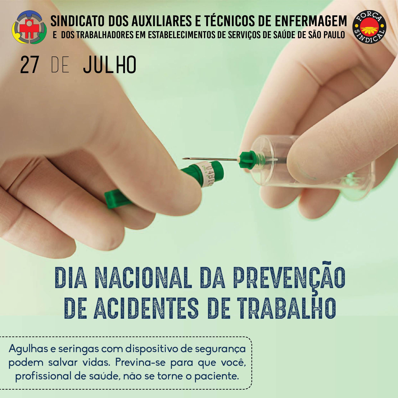 Dia Nacional da Prevencao de Acidentes de Trabalho