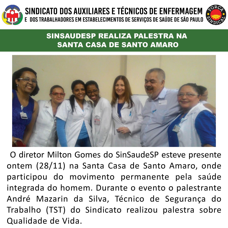 SinSaudeSP realiz aplatesra na Santa Casa de Santo Amaro