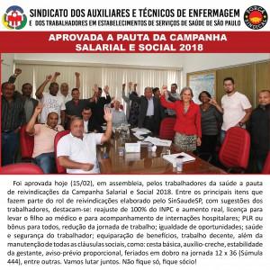 Assembleia da campanha salarial e social