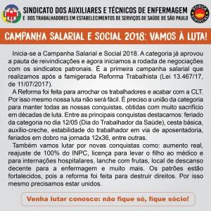 Campanha salarial e social 2018